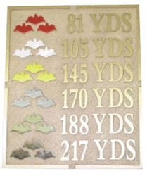 Picture of Bronze Yardage Signs